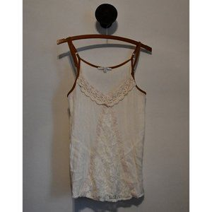 Miss Me Crochet and Lace Spaghetti Strap Tank Top